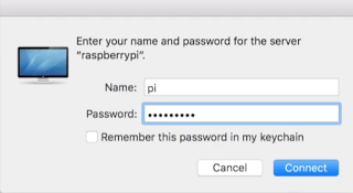 Entering Pi Username And Password